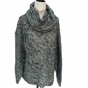 Bluenotes Grey Chunky Knit Cowl🌸 Neck Sweater S